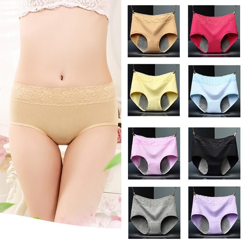 fec92d7d773b Women Menstrual Period Underwear Cozy Lace Panties Seamless ...